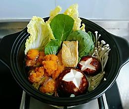 鸡肉丸子寿喜锅的做法