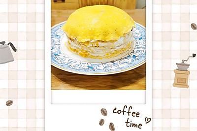 自制美味芒果千层蛋糕(含打发奶油方法)