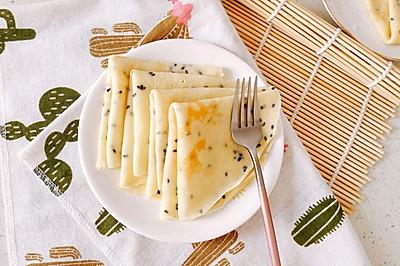 黑芝麻鸡蛋饼 宝宝辅食营养食谱