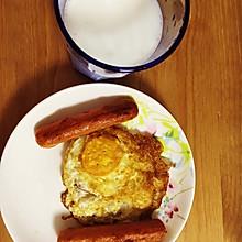 美式香肠煎蛋早餐