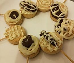 简易版小饼干巧克力棒棒糖(无烤箱版)的做法