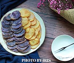 娱乐好伴侣—双色土豆片的做法