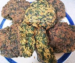 #一人一道拿手菜#紫苏虾皮玉米饼的做法