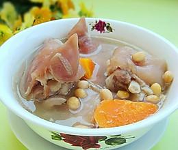 黄豆炖猪手  的做法