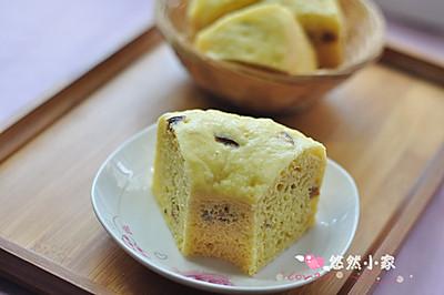 孩子的小甜点——玉米面红枣发糕