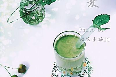 薄荷抹茶奶绿
