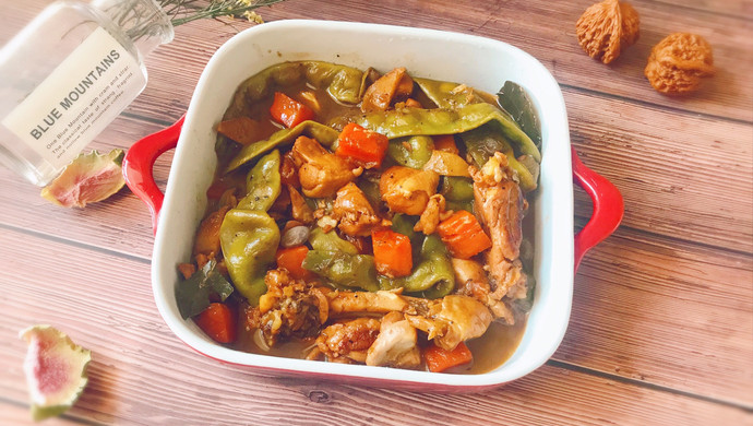㊙️冬日下饭菜--鸡腿肉炖宽豆角