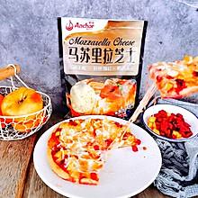 #安佳马苏里拉芝士挑战赛#水果披萨