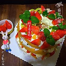 鲜果裸蛋糕(最简易的奶油水果蛋糕)