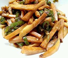 青椒素炒杏鲍菇的做法
