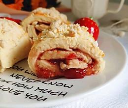 美味小点心在家出炉—草莓司康卷的做法