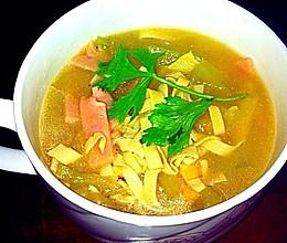 冬瓜豆皮汤的做法