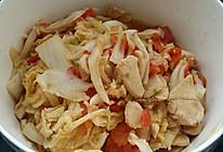 番茄和大白菜还有鸡肉一起愉快地玩耍的做法