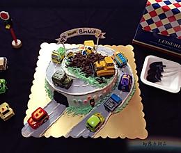 公路场景小汽车生日蛋糕#相约MOF#的做法