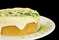 菠菜杏仁咸奶盖蛋糕的做法
