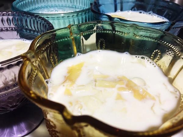 花胶炖奶的做法