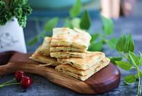 酥掉牙的半烫面葱花千层饼——绝对简单快速,早晚餐都适合。的做法