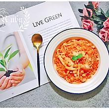 剩饭的华丽变身之番茄菌菇鹰嘴豆炖糙米饭