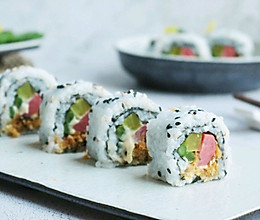 芦笋肉松反转寿司的做法