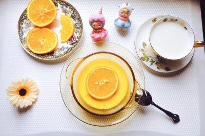 完美邂逅—香橙牛奶蒸蛋羹