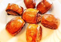超简单又健康——红薯花生巧克力酱卷的做法