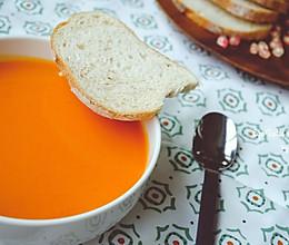 献给即将到来的秋日~~炙烤柿椒番茄浓汤 #松下破壁机#的做法