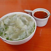 上海风情的菜肉大馄饨