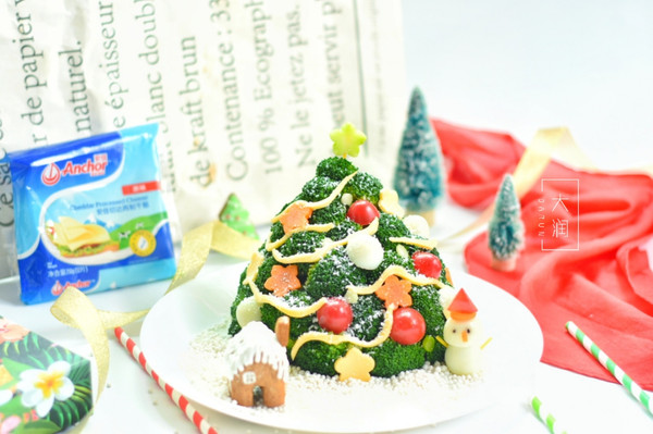 金枪鱼芝士土豆圣诞树
