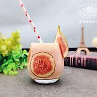 """【美食魔法】奇妙的无花果草莓思慕雪#享""""美""""味#"""