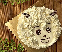 新手裱花——无添加剂喜羊羊蛋糕的做法