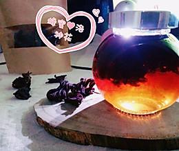 懒虫花茶—蜂蜜恋上洛神花的做法