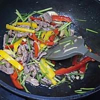 彩椒炒羊肉的做法图解6