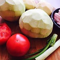 五花肉炖土豆茄子的做法图解1