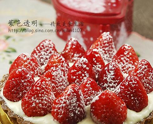 娇艳欲滴草莓挞的做法