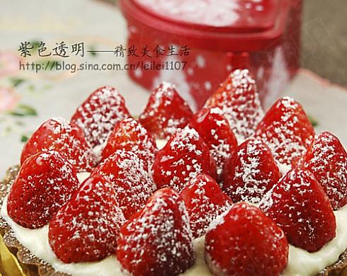 娇艳欲滴草莓挞