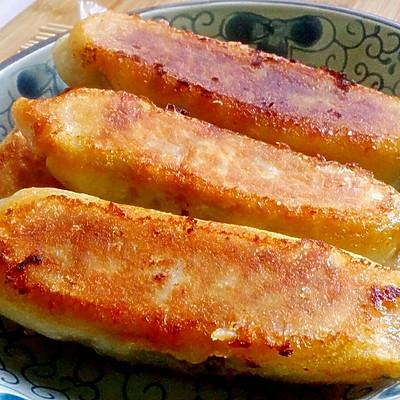 【韭菜肉馅煎饺】>>长煎饺