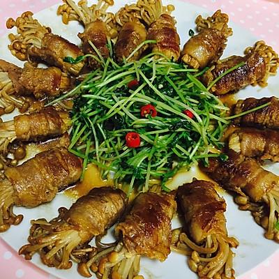 五花肉金針菇卷