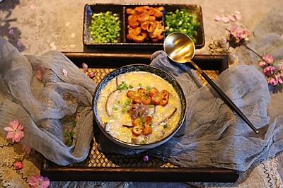 香菇牛肉蛋花粥