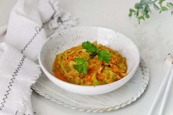 茄汁圆白菜的做法