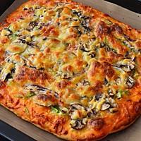 脆底蘑菇披萨的做法图解11