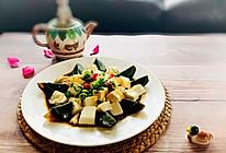 青花椒辣卤皮蛋豆腐的做法