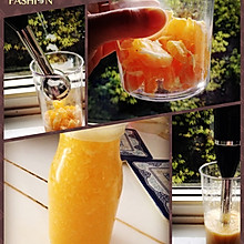 橙汁鲜榨果肉果汁