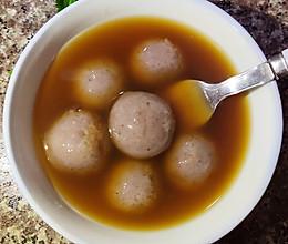 补气养血红糖姜茶汁汤圆的做法