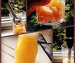 橙汁鲜榨果肉果汁的做法