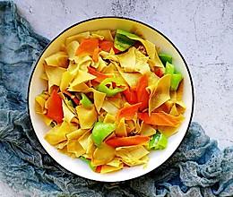 #一道菜表白豆果美食#辣椒炒豆皮这么做超好吃的做法
