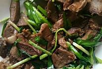 猪口条炒韭菜的做法