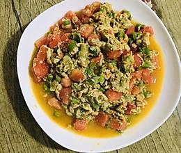 青椒鸡蛋番茄三合一(下饭菜)的做法