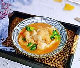 #憋在家里吃什么#番茄龙利鱼烩年糕的做法