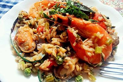 西班牙海鲜饭(家常版)