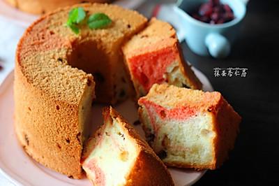 蔓越莓戚风蛋糕#美的烤箱菜谱#